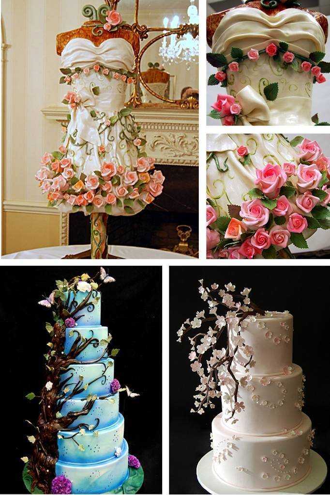Nature Inspired Wedding Cakes by Pink Cake Box