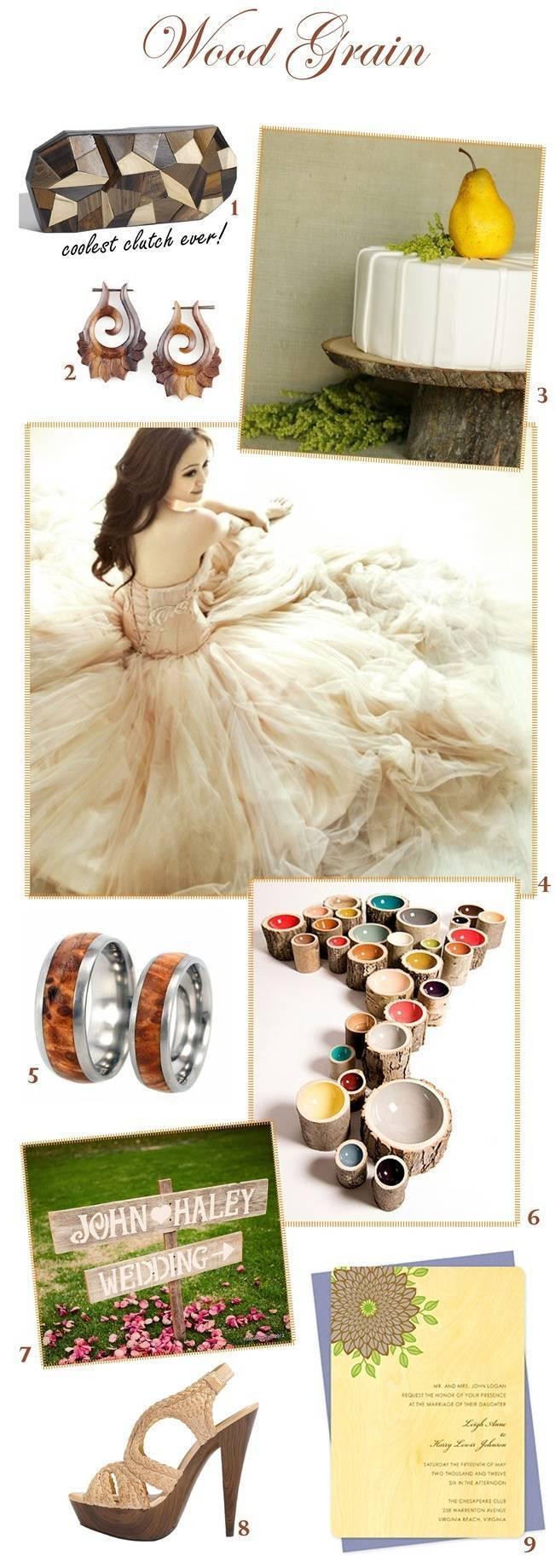 Wood Grain Wedding Inspiration