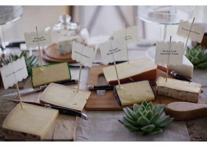 wedding reception cheese display