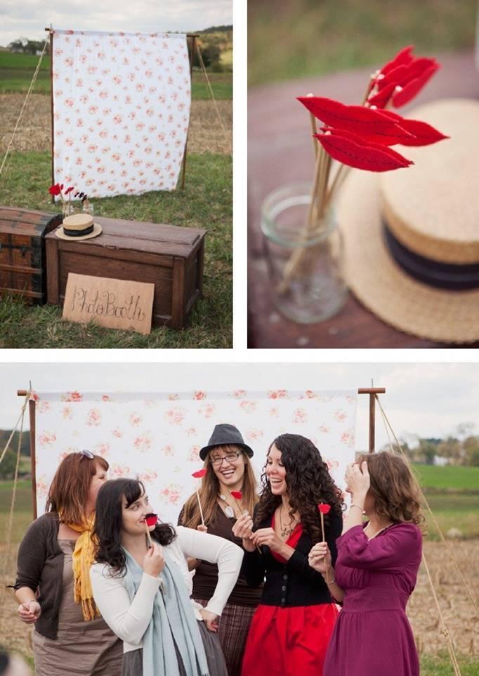 wedding photobooth wax lips