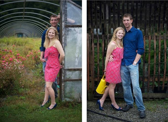 Virginia greenhouse engagement summer weddings