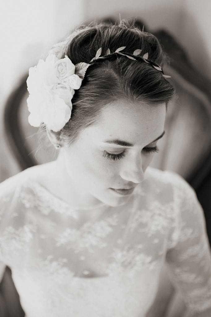 woodland wedding hair accessory