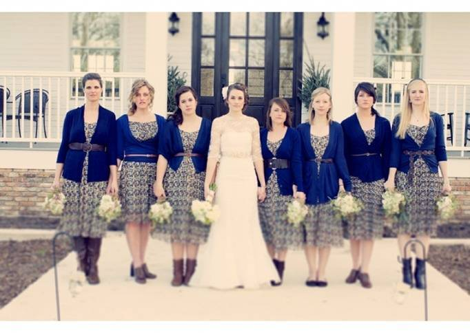 navy blue bridesmaids