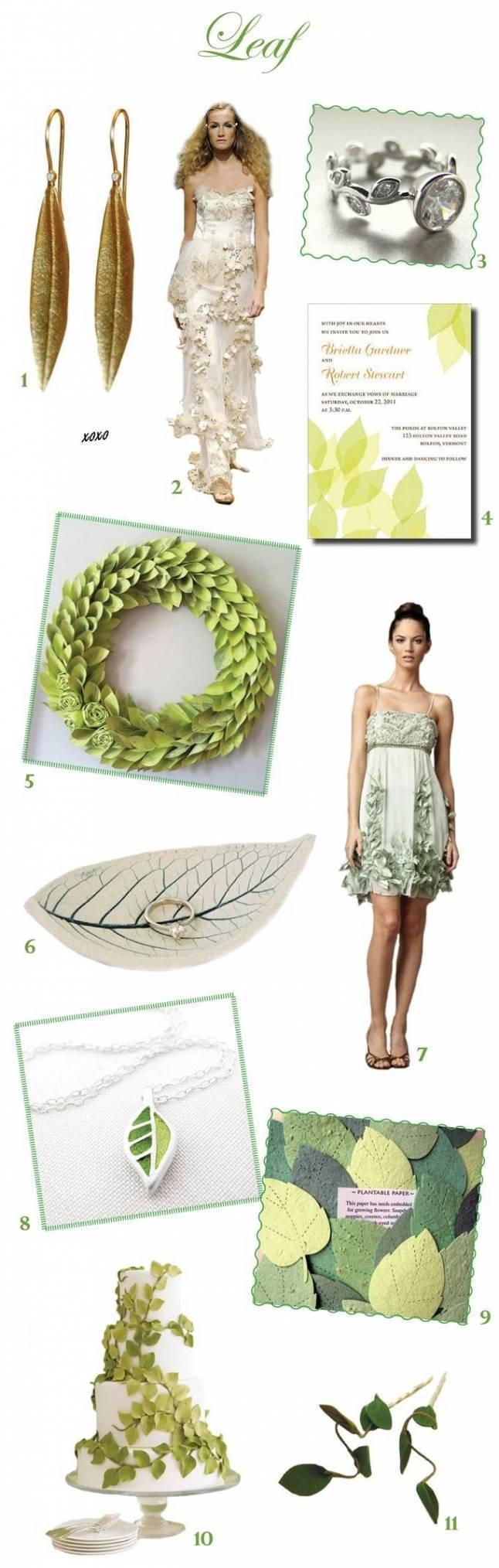 Leafy Green Wedding Inspiration