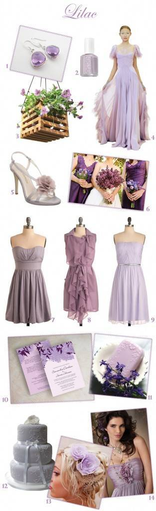 Lilac wedding colors, purple wedding, spring wedding colors