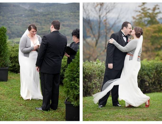 mountain top wedding ceremony