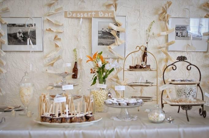 DIY dessert bar wedding reception