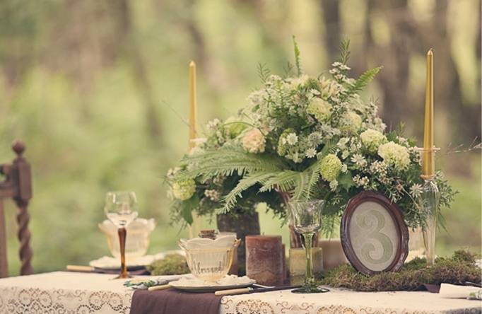 woodland table setting
