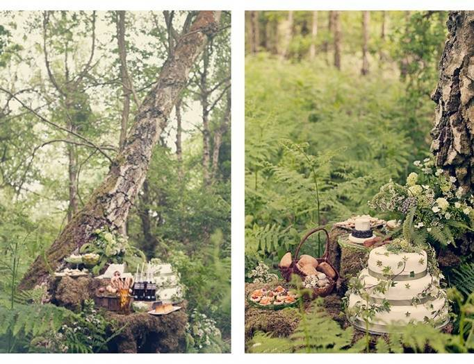 woodland wedding cake, fairy cake