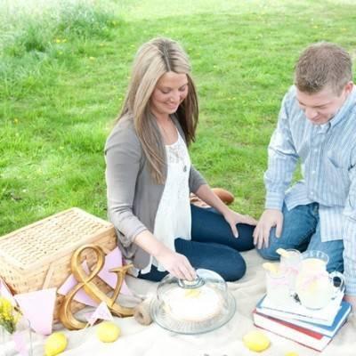 Lemon Picnic Engagement by Jenna Rose Photography