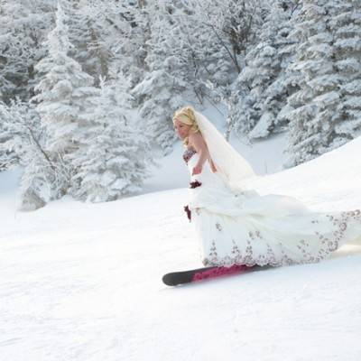 Stowe Snowboarding Wedding by Landwehrle Photography