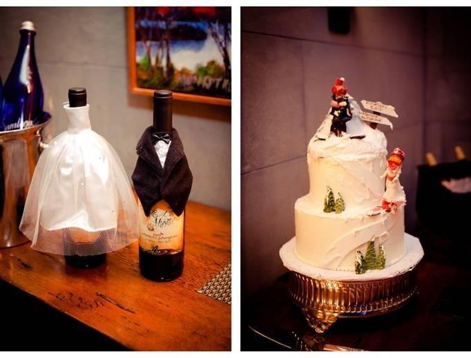snowboarding wedding cake