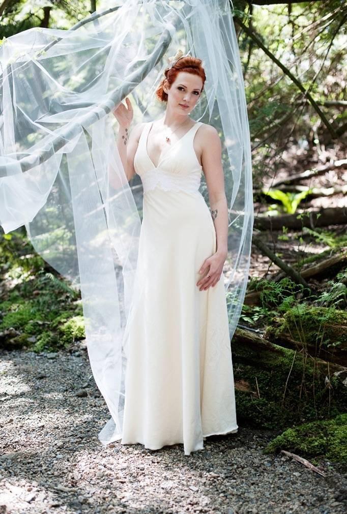Eco beautiful wedding dresses by pure magnolia for Organic cotton wedding dress