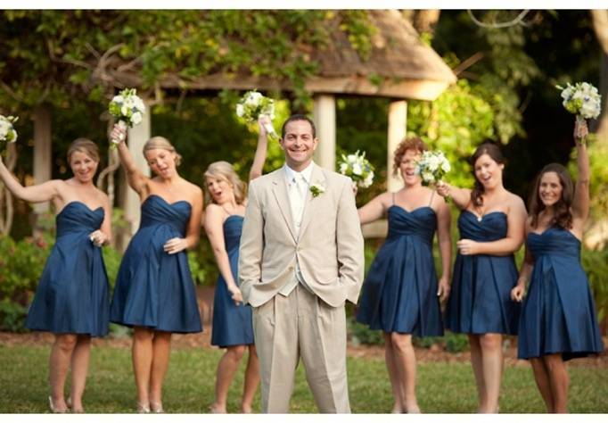 navy and green wedding