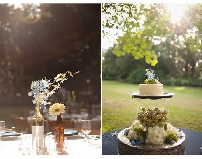outdoor wedding cake