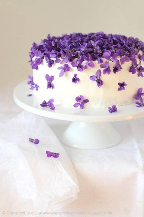 Sugar Violets For Cake Decorating