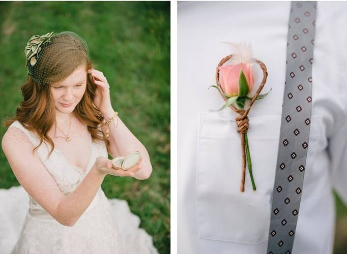pink woodland wedding