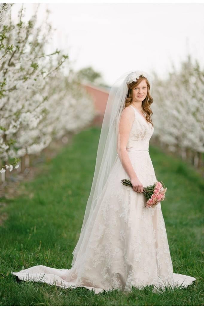 blush and cream wedding colors