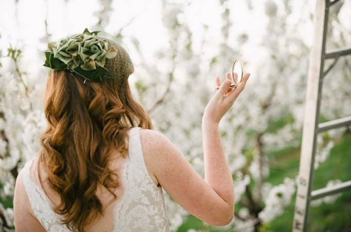 vintage wedding hair