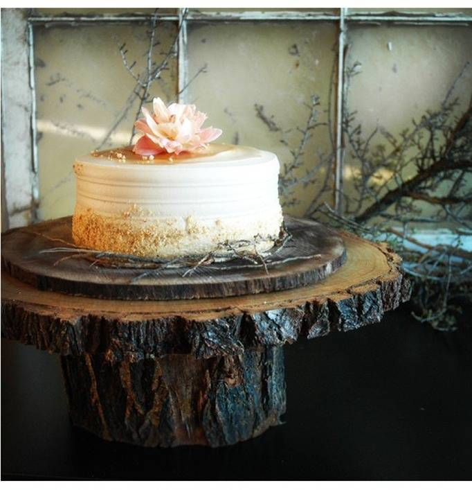 Rustic Cake Stands and Toppers