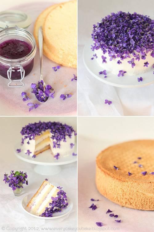 DIY Violet Cake