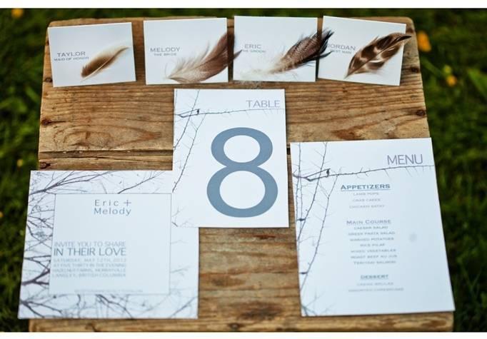 bird nest wedding invitations