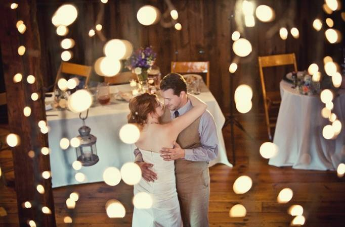 rustic barn wedding reception