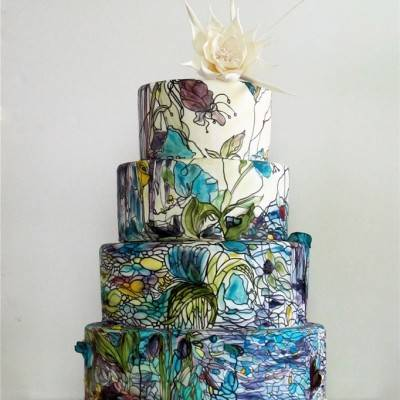 Amazing Painted Wedding Cakes