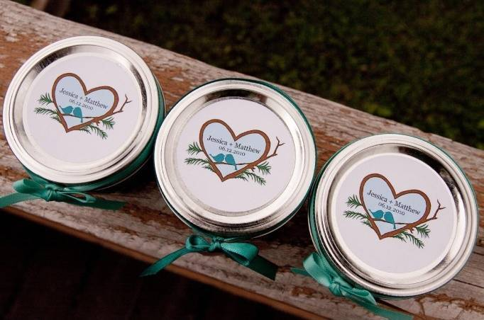 turquoise wedding favors