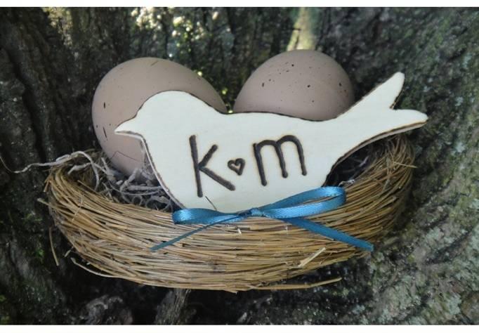 bird nest wedding cake topper