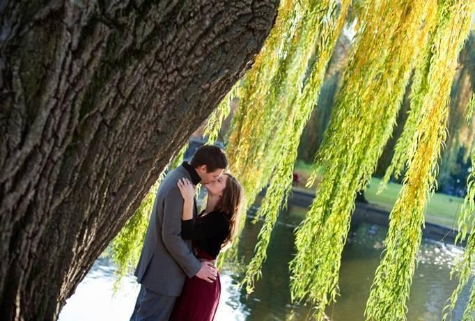 Boston Gardens Engagement Shoot