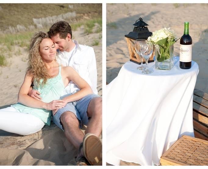 beach engagement photo shoot