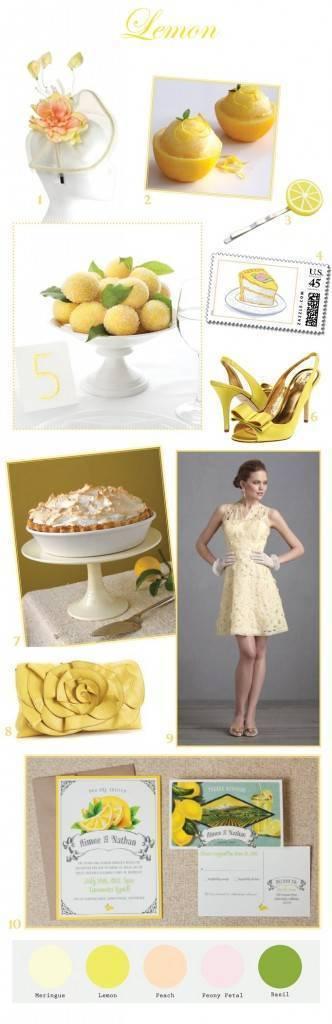 Lemon Yellow Wedding Inspiration