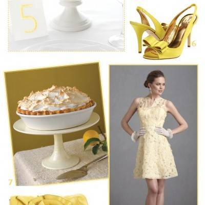 Lemon Yellow Wedding Inspiration