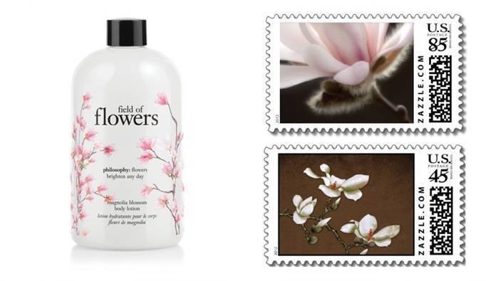 magnolia wedding stamps