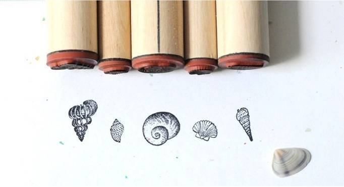 small seashell stamps