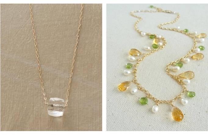 simple wedding necklace