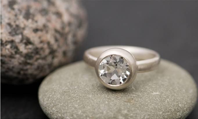 white topaz wedding jewelry