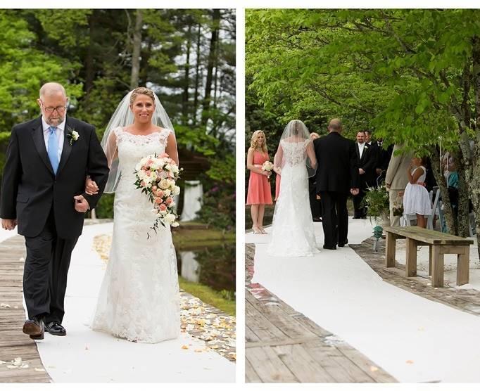 aisle runner for outdoor wedding