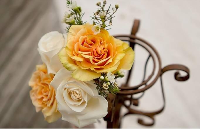 yellow wedding roses