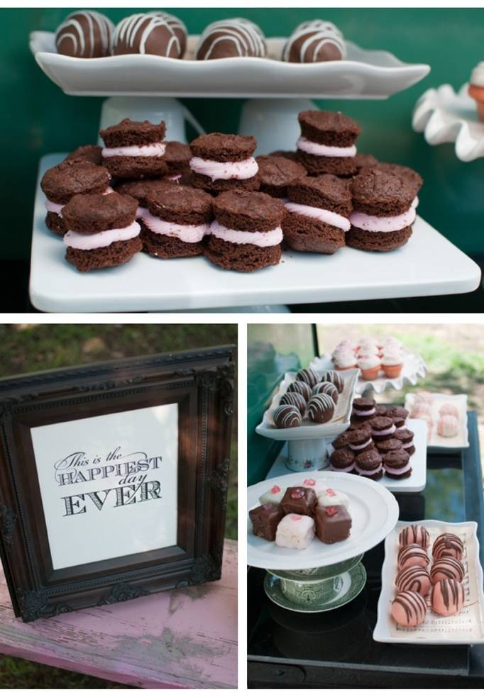 dessert table wedding reception