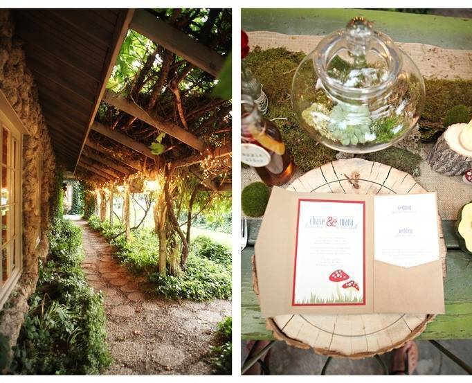 woodland wedding menu