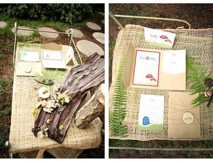 woodland wedding invitation ideas