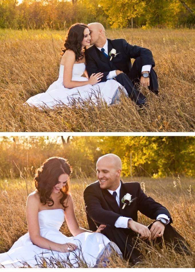 wedding styled shoot in field