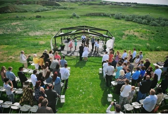 alberta canada outdoor wedding
