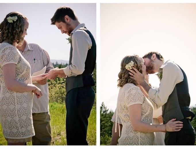 simple outdoor wedding ceremony