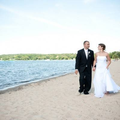 Red and White Beach Wedding by Jenna Rose Photography
