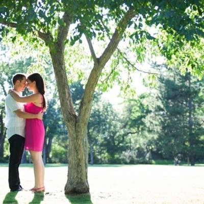 Engagement in the Trees by Sophia Katherine Photography