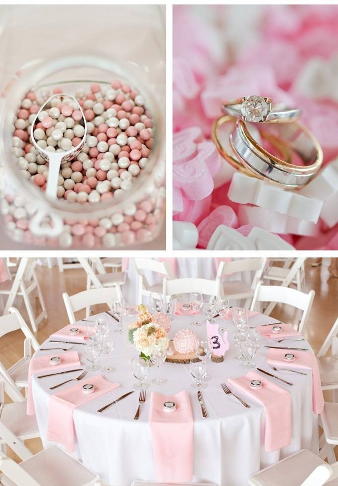 light pink wedding theme