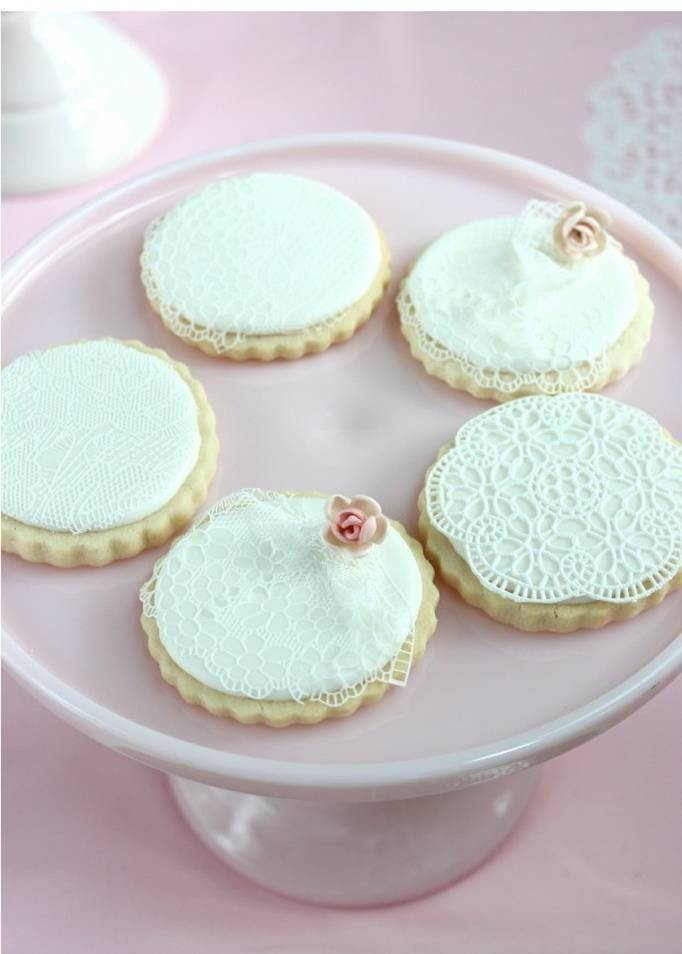 This last image is of lace cookies made with the SugarVeil technique ...